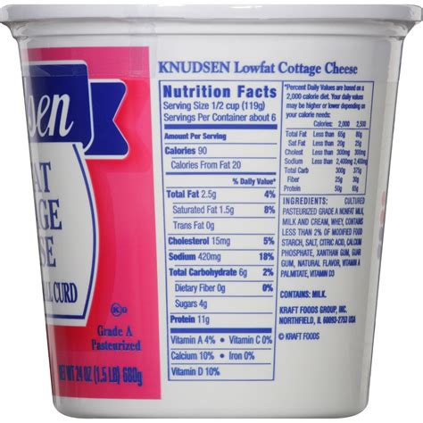 Cottage Cheese Nutrition Knudsen Nonfat Cottage Cheese Nutrition Facts Besto