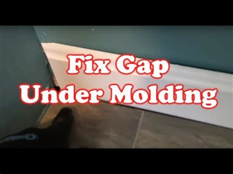 how to fix gap between how to fix gap a floor molding fix