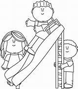 Children Park Clipart Black And White