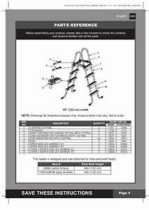 Intex Pool Ladder Manual For 48 Inch Swimming Pools