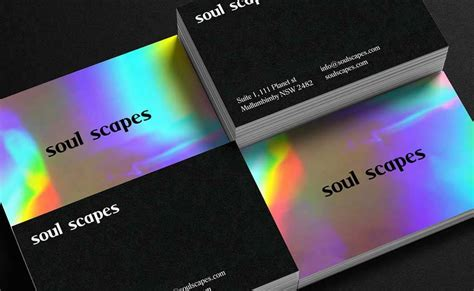 fantastic examples  business cards  holographic
