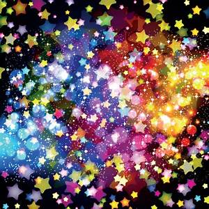 Colorful Stars and glitter vector backgorunds set 05 ...