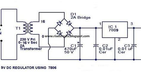 volt power supply circuit diagram  ic