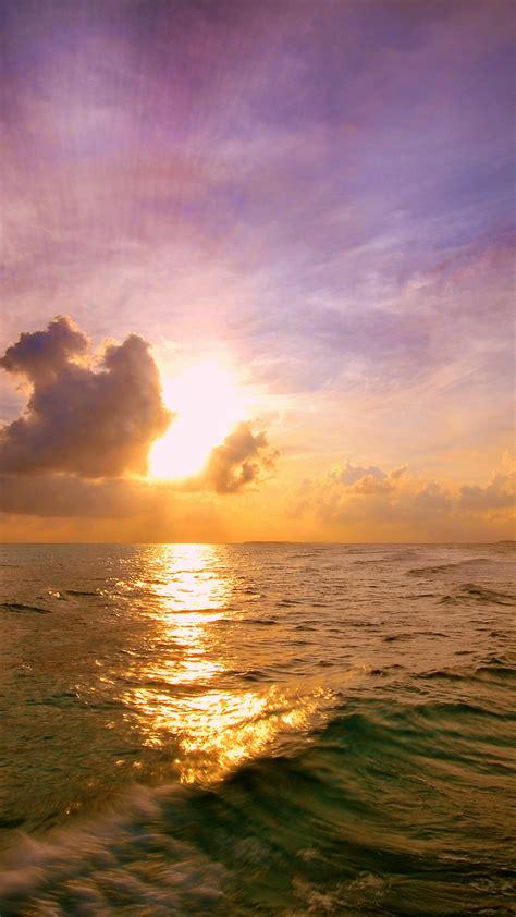 wallpaper sunset maldives landaa giraavaru island
