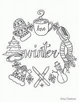 Coloring Winter Scene Pages Printable Disney sketch template