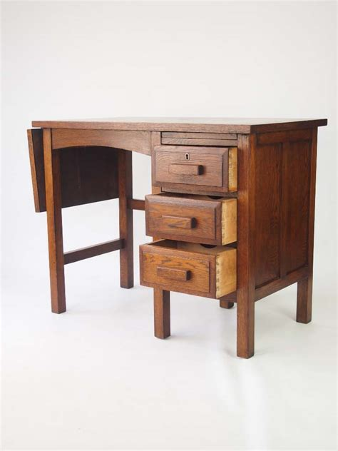 Small Wooden Desk For Sale by Small Vintage Oak Desk Circa 1930s For Sale