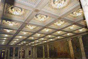 Coffered, Vaulted, Ceiling, -, Interior, Design, -, Acoustic, Ceiling, Tiles