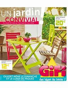 Chaise De Jardin Gifi : gifi un jardin convivial ~ Dailycaller-alerts.com Idées de Décoration