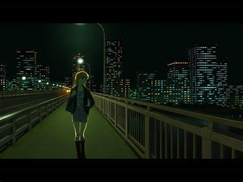 Anime Wallpaper Alone - anime city bridge alone wallpapers hd desktop
