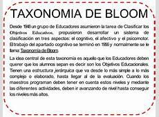 TABLA DE VERBOS DIDACTICOS DE LA TAXONOMIA DE BLOOM 1