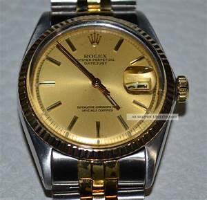 Uhr Rolex Herren : rolex datejust automatik herren uhr stahl gold cal 1570 ~ Kayakingforconservation.com Haus und Dekorationen