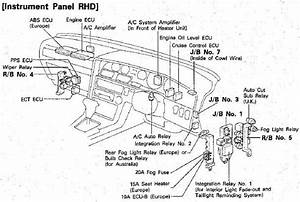 1990 Toyota Supra Instrument Panel Electrical Circuit