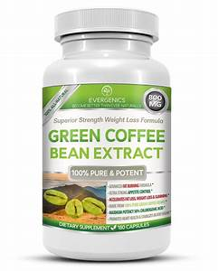 Evergenics Green Coffee Bean Extract Weight Loss Formula  U2022 Superior Strength  U2022 180 Capsules  U2022 3