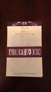 semi diy invitecricut made belly band weddingbee photo With cricut wedding invitations tutorial