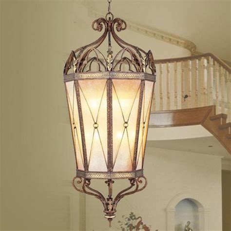 76 034 bristol manor bronze foyer atrium lighting livex