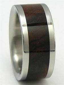 titanium ring desert iron wood band mens or ladies by With iron wedding ring