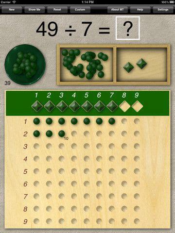 Montessori Division Board | Montessori math, Montessori ...