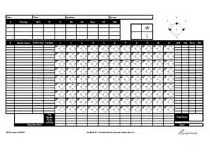 Free Printable Baseball Score Sheet