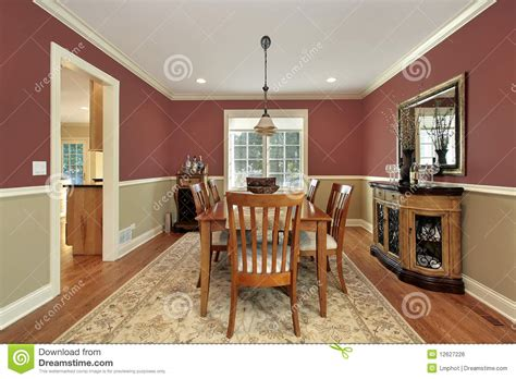 dining room   toned walls royalty  stock image