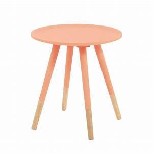 Table Basse Vintage Bois : table basse vintage en bois orange fluo l 40 cm dekale maisons du monde ~ Melissatoandfro.com Idées de Décoration