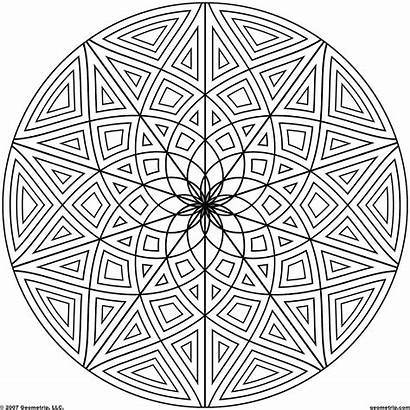 Coloring Pattern Adults Sheets Symmetry Popular