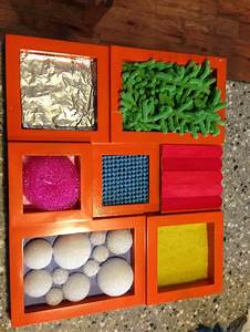 Handmade sensory touch and feel board. For splats ...