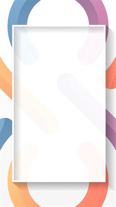 premium vector  blank rectangle colorful