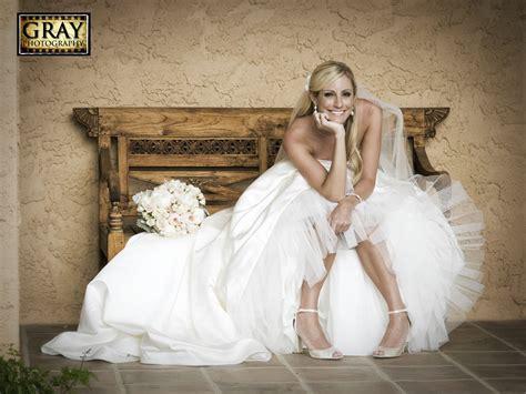 Cute Bride Pose Pink & Gray Girlie Wedding Outdoors Villa