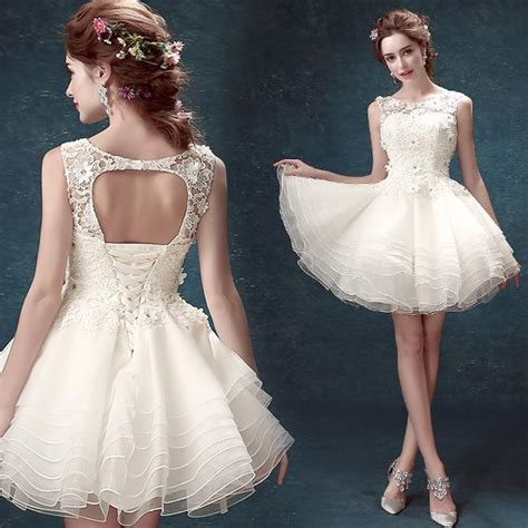 buy fashion  white short ball gown