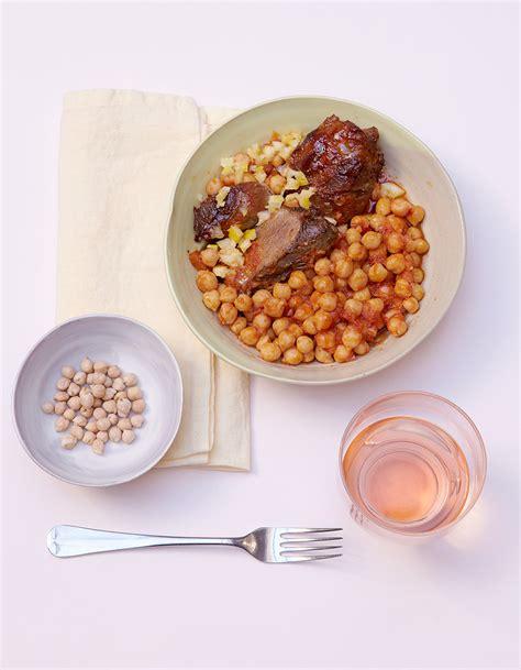 fr3 fr recettes de cuisine agneau confit en sauce aux pois chiches pour 6 personnes