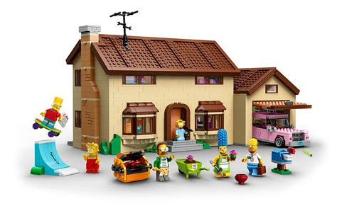 lego 71006 the simpsons house la maison des en lego avec les minifigurines de homer
