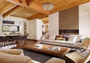 Wohnzimmer Holz Modern : einrichtungsideen holz ~ Indierocktalk.com Haus und Dekorationen
