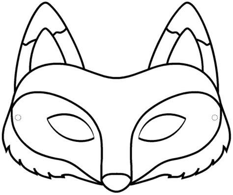 masque rituel à tête de fils des histoires masque de renard à imprimer