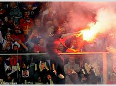 Thousands of rioting Serbian fans attack Italian police