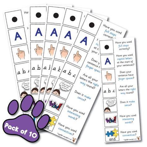 writing reminder bookmarks year  english literacy