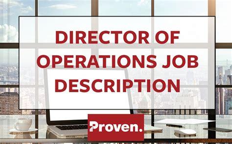 The Perfect Director Of Operations Job Description