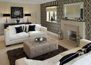 Wallpaper Living Room Feature Wall Ideas