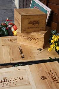 used wine crates Actually, this is Stefano's DIY. We had beautifully etched ...