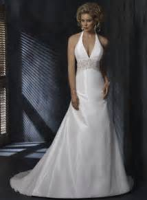 halter top wedding dresses halter top beaded a line silhouette taffeta wedding gowns prlog