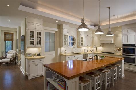 industrial island lighting kitchen transitional with large