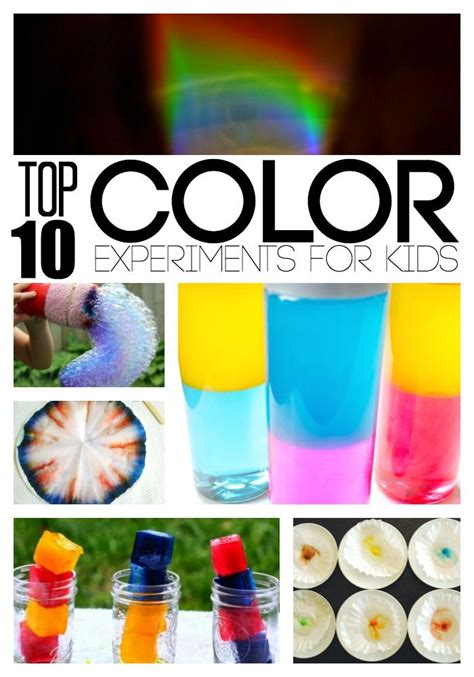 color science experiment color mixing and for on
