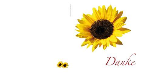 dankeskarten sonnenblume
