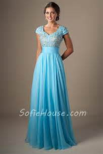 bridesmaid dresses modest modest a line cap sleeve light green chiffon beaded prom dress