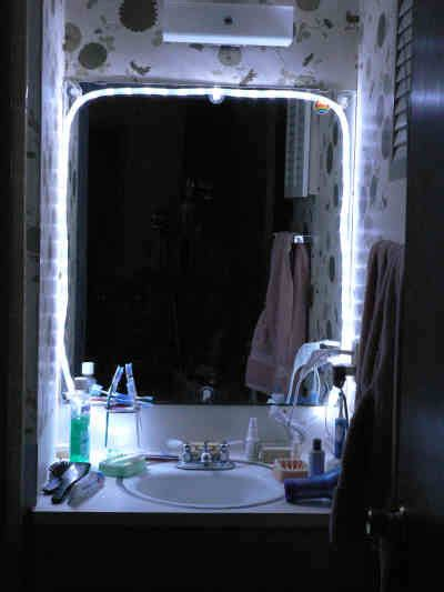 mirror with lights around led lights and how to fix them