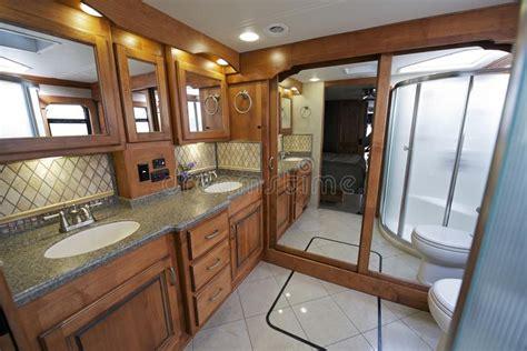 luxury rv bathroom stock image image  motorhome bath