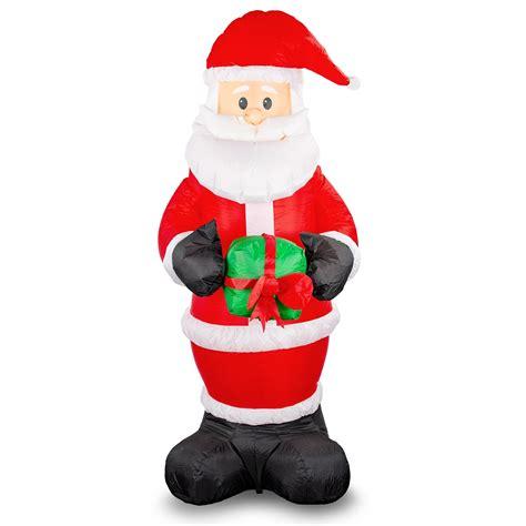ft santa claus holding  present light  christmas