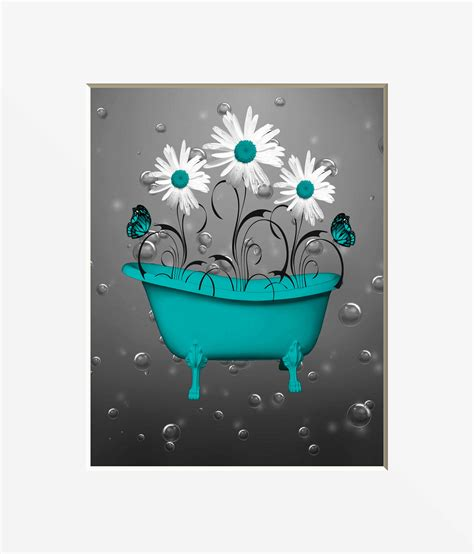 Bathroom Decor Gray And Teal