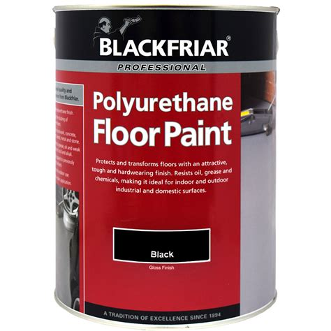 Blackfriar Polyurethane Garage Floor Paint Black Indoor