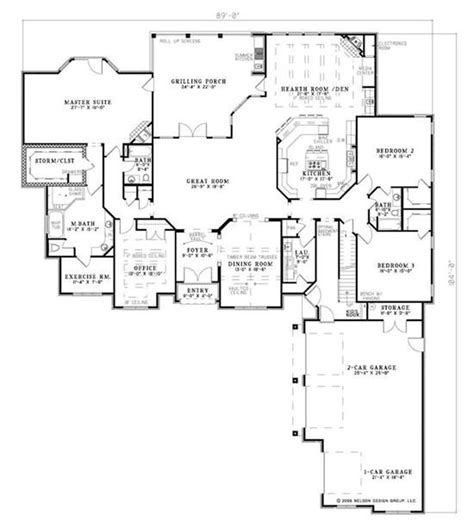 hearth room   front exercise room   closet house plans dream house plans