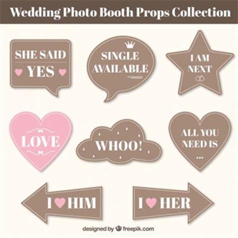 photo booth props vectors   psd files